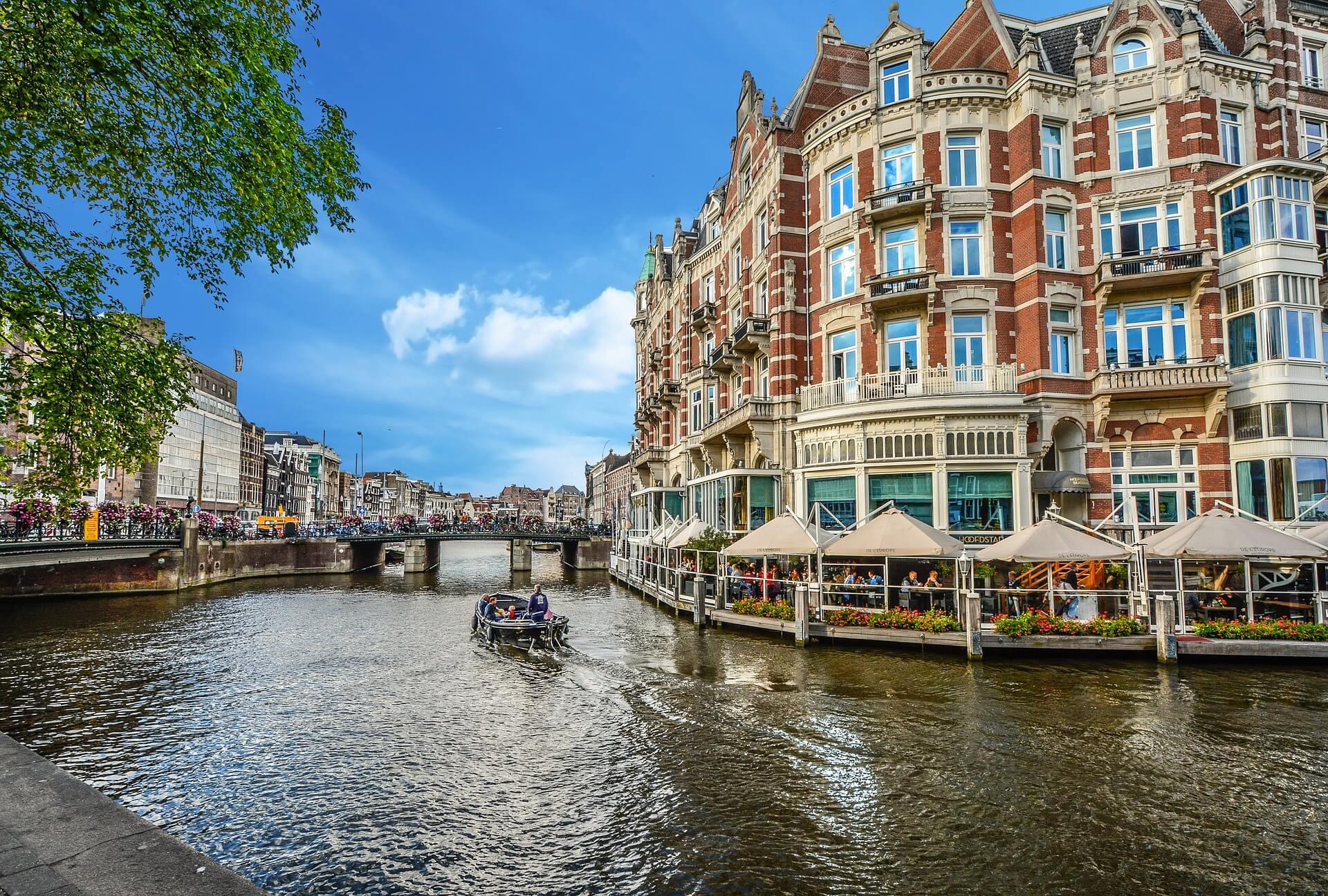 Vodní kanál Amsterdam