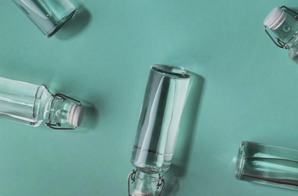 Skleněná lahev - Živá voda 0,6l 1