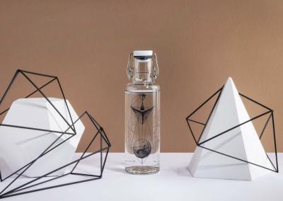 Skleněná lahev Soul Bottles - Geometrie
