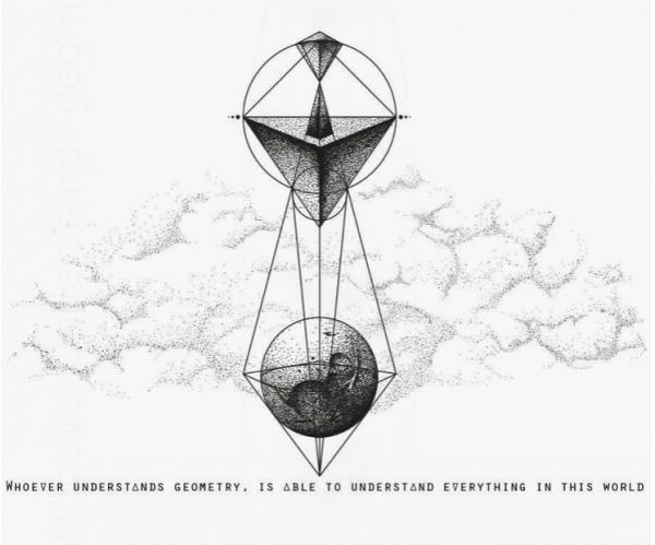 Skleněná lahev Soul Bottles - Geometry