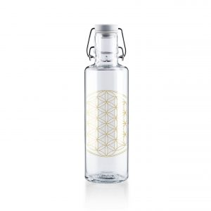 Skleněná lahev s duší - květ života