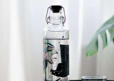 Skleněná Skleněná lahev s duší - Matka Zem s duší - Matka Zem