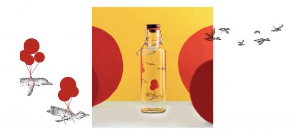 Skleněná lahev s duší - Pinguin
