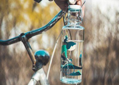 Skleněná lahev s duší - Biker