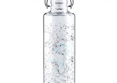 Skleněná lahev s duší - živá voda