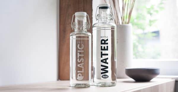 Skleněná lahev - Voda 1l 3