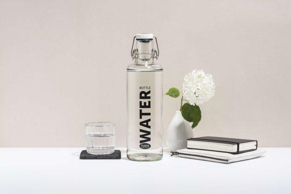 Skleněná lahev - Voda 1l 2