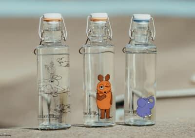 Skleněná lahev soulbottle - Myška 0,6 l