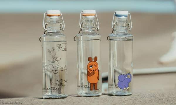 Skleněná lahev soulbottle - Slon 0,6 l