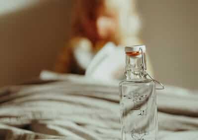 designové skleněné lahve