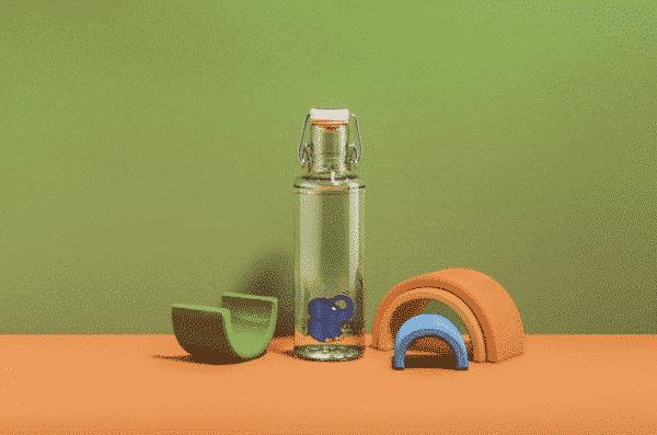 Skleněná lahev soulbottle - Slon 0,6 l 3