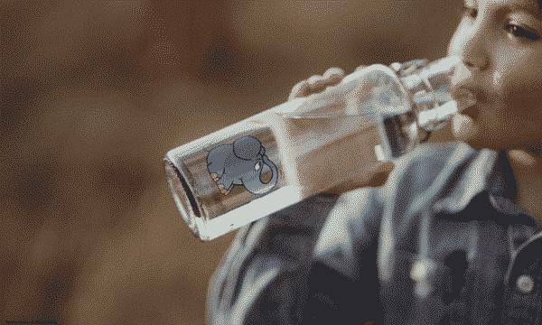 Skleněná lahev soulbottle - Slon 0,6 l 2
