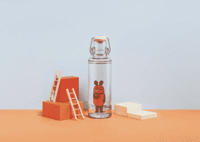 Destká skleněná lahev napití
